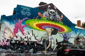 Straßenkunst an der Brunswick-Street.