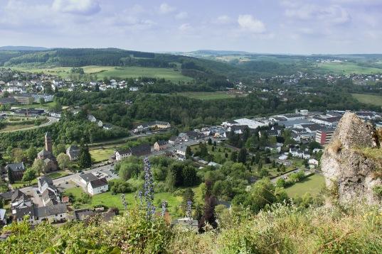 Blick von der Munterley auf Gerolstein