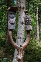Holzschnitzerei am Eselsplatz