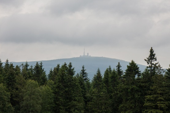 Aussicht auf den Brocken von Torfhaus