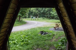 """Blick aus """"unserer"""" Schutzhütte"""