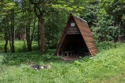Die Schutzhütte am Steinbach