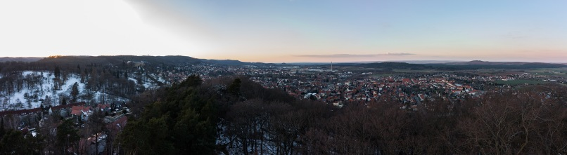 Aussicht vom Großvaterfelsen auf Blankenburg