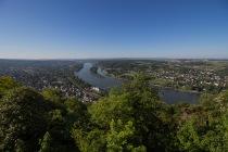 Blick vom Drachenfels ins Rheintal
