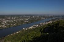 Blick vom Drachenfels auf Bonn