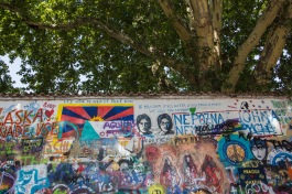 Die Lennon Wall in Prag