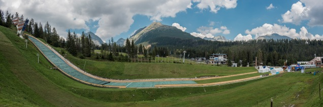 Die Skisprungschanze in Strbske Pleso