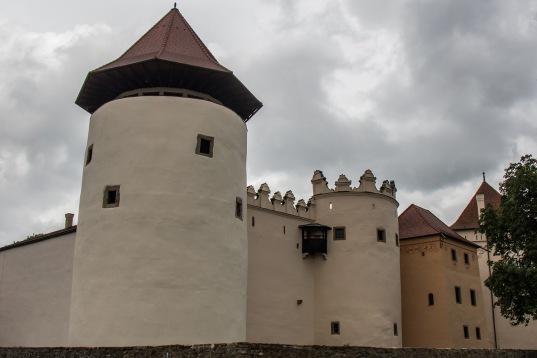 Die Burg von Kezmarok, gleich daneben liegt unser Haus