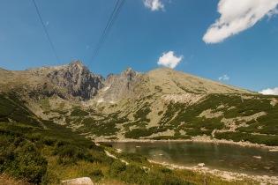 Blick von Skalnate Pleso auf die Lomnitzer Spitze