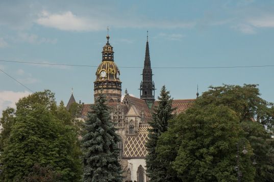 Blick auf die Kathedrale von Kosice