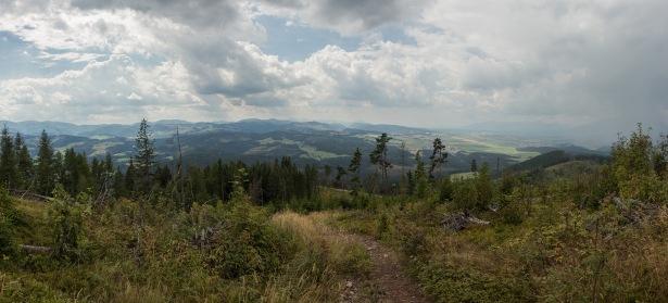 Aussicht kurz vor dem Gipfel