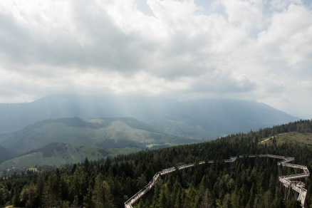 Blick vom Turm Richtung Hohe Tatra